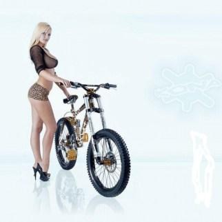 Leopard Print Kona DH Custom Bike - Model: Michelle Marsh