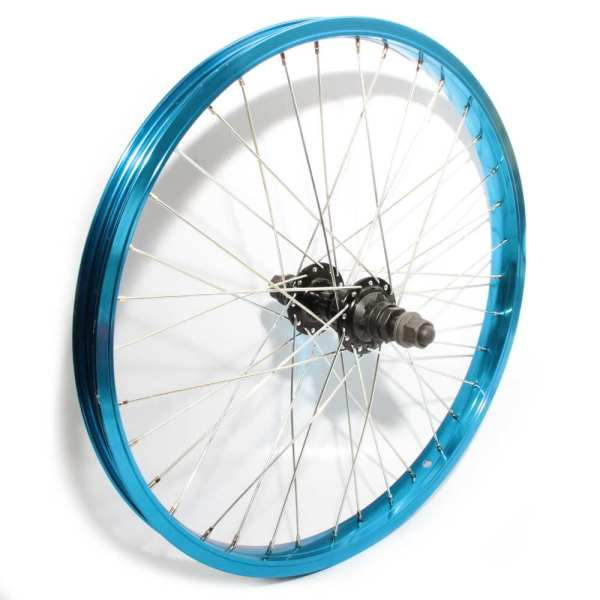 "20"" Rear Wheel Blue Alloy Rim 36H 9T Driver 14mm Axle"