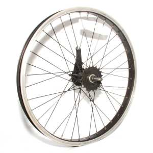 "20"" Rear Wheel Alloy Schrader Rim Silver Steel Hub 110mm 36H 19T Back-Pedal Brake"