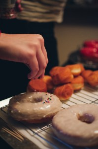 sprinkles on top of a vanilla glazed donut - Paul Blart