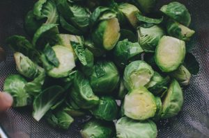 Brussel Sprouts Cleaned and Cut