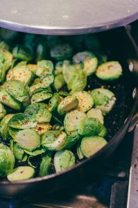 Add a little spice to the Brussel sprouts