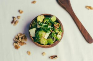 roasted Brussel sprout salad top view