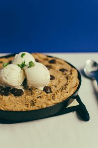 yummy relatively healthy skillet cookie