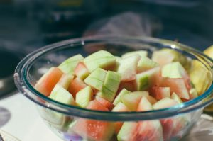 Cut watermelon rind ready for pickling - The Mummy