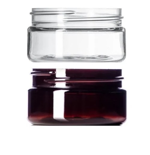 amber clear froster plastic jar