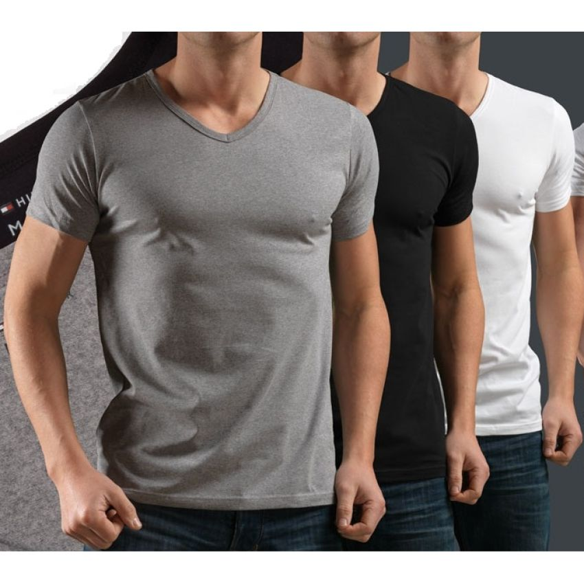 9f672f15 Buy Pack of 3 V-Neck Half Sleeves T-Shirts in Pakistan | GetNow.pk