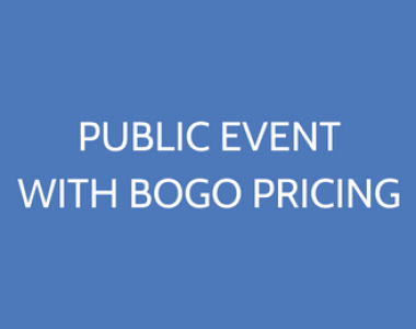 Public Event With BOGO Pricing