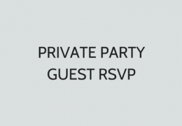 Private Party Guest RSVP