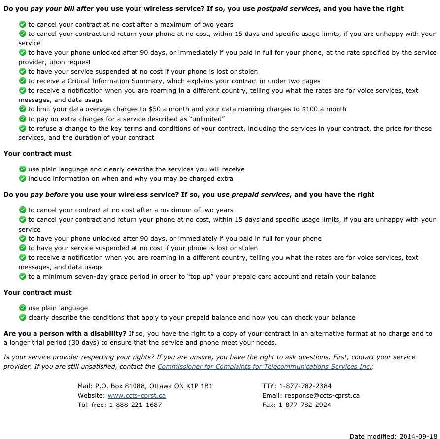 Dating service consumer bill of rights