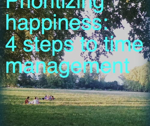Prioritizing happiness: 4 steps to time management