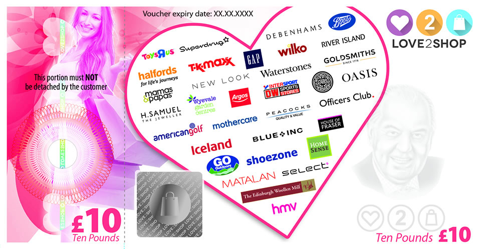Can i use love to shop vouchers online