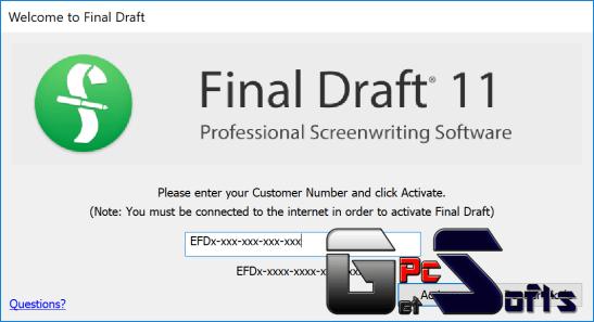 final draft 10 free activation key