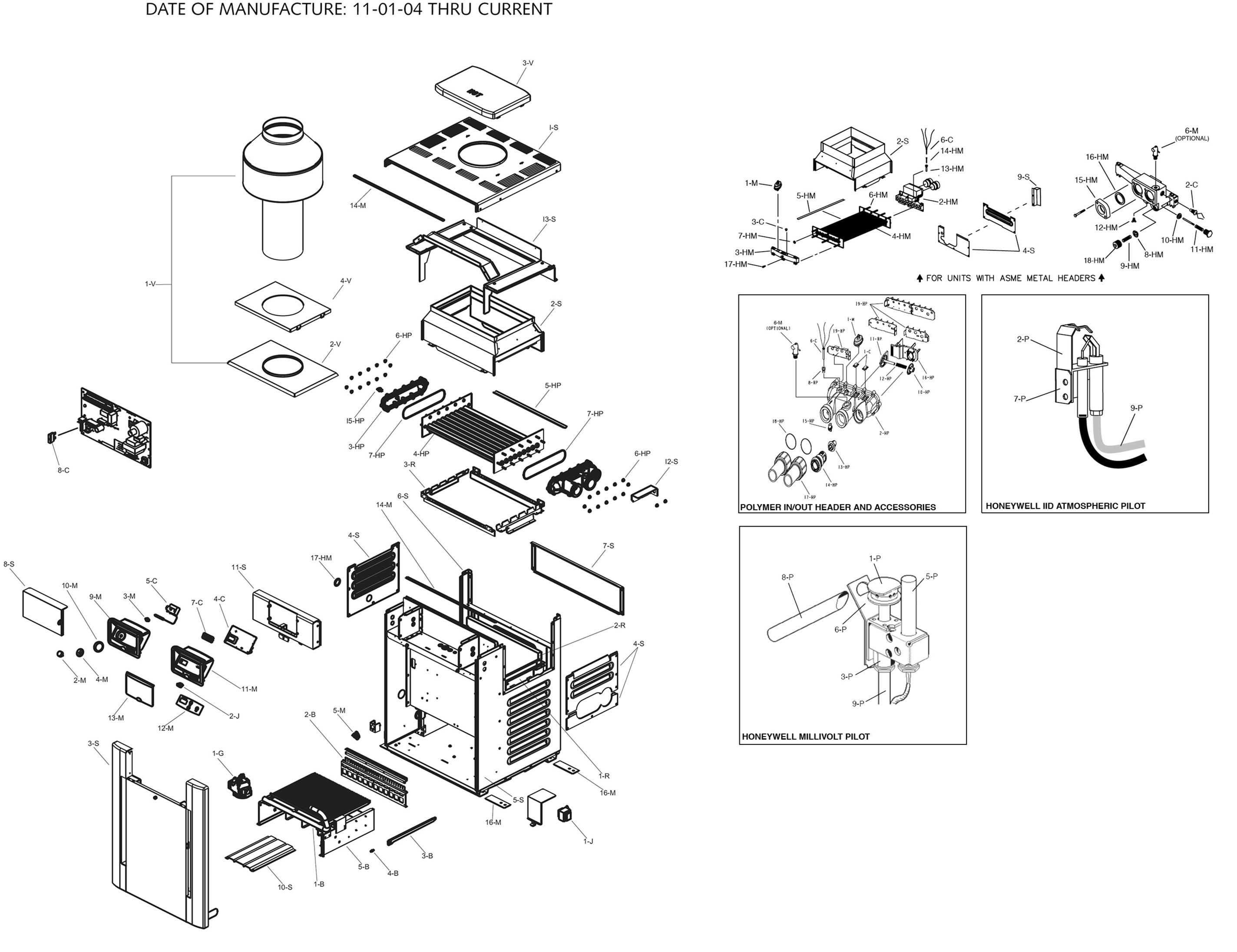Raypak Model R266a Digital Heater Parts