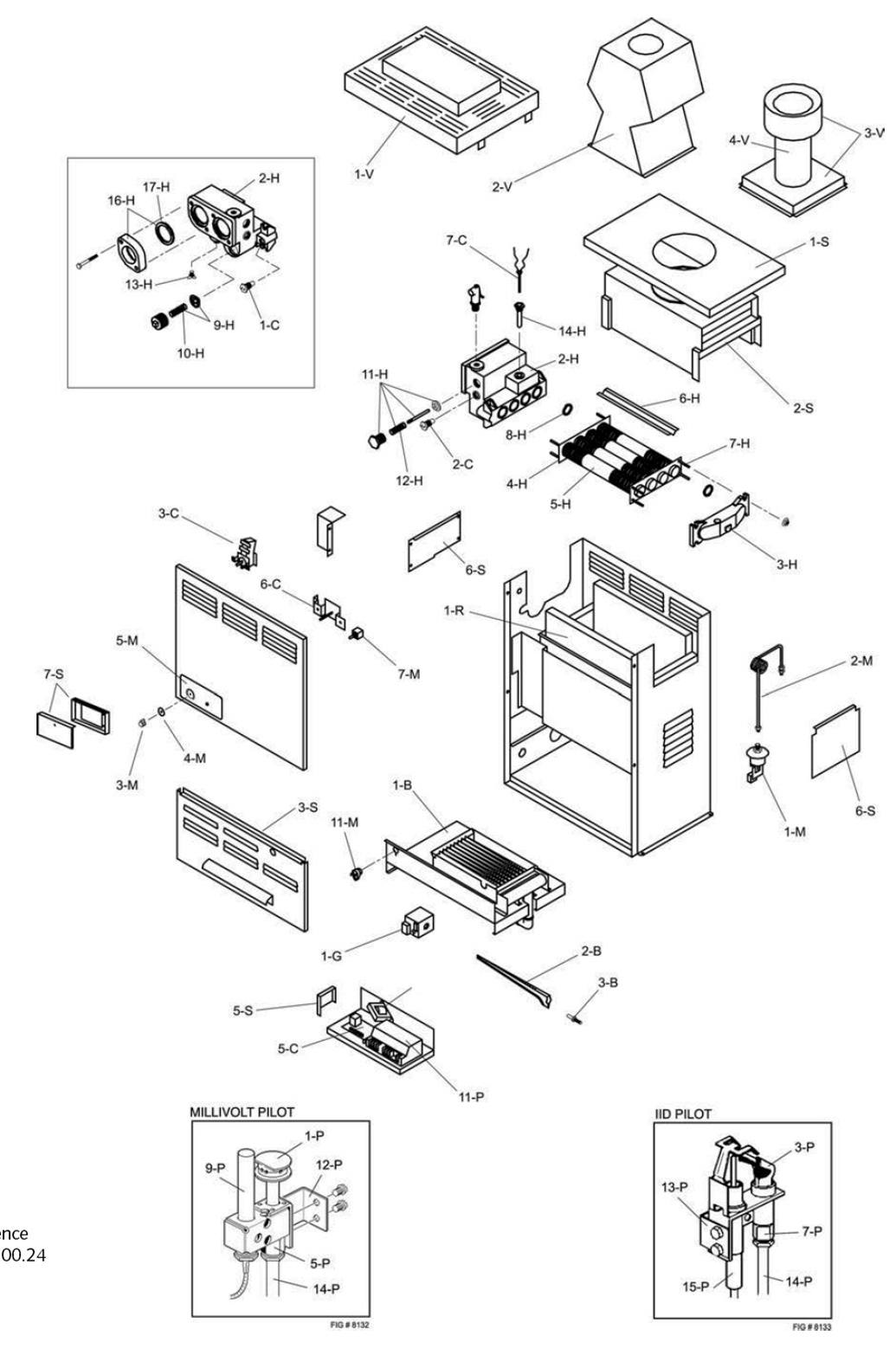Raypak Model 105a Heater Parts