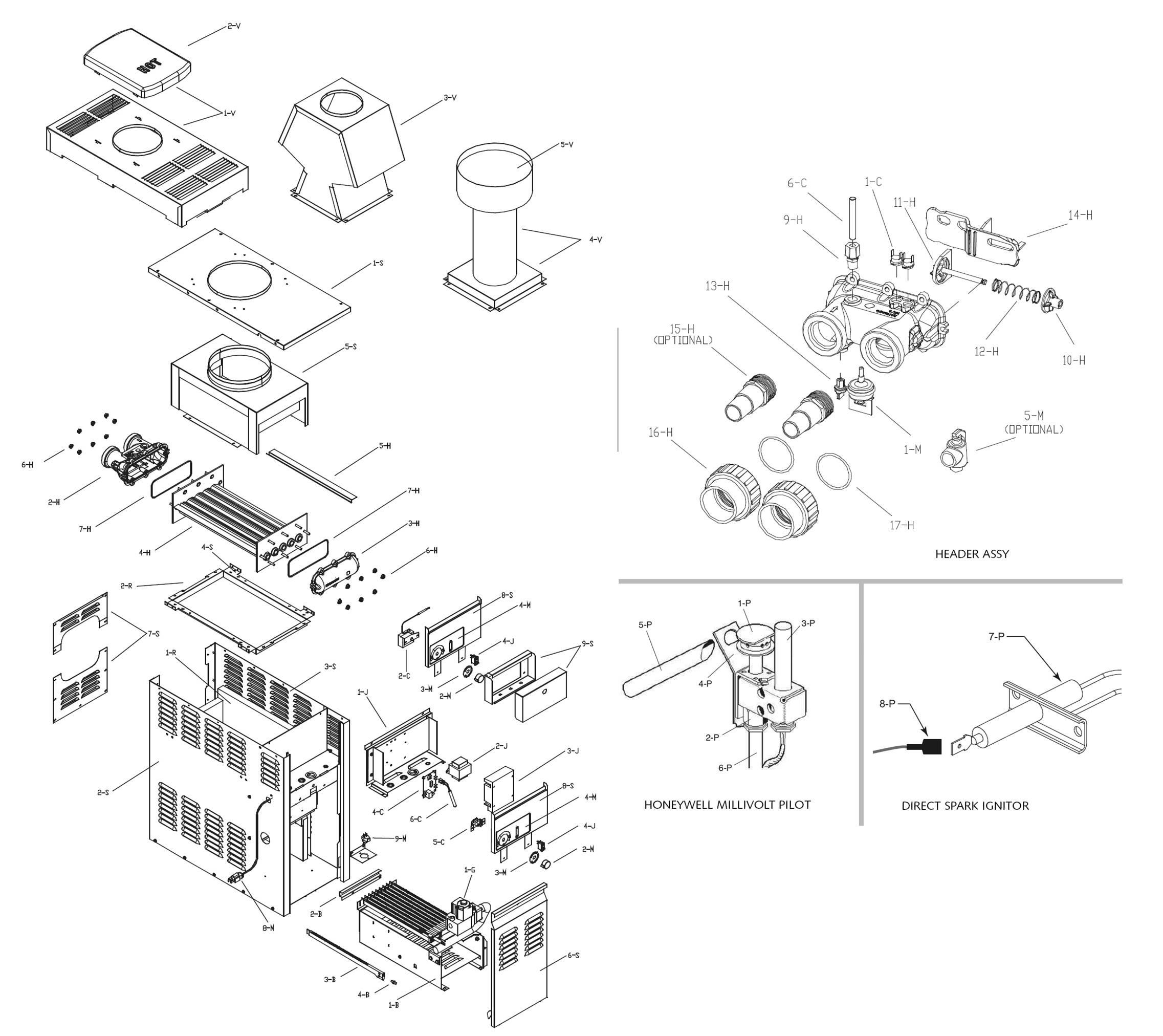 Raypak Model 130a Heater Parts