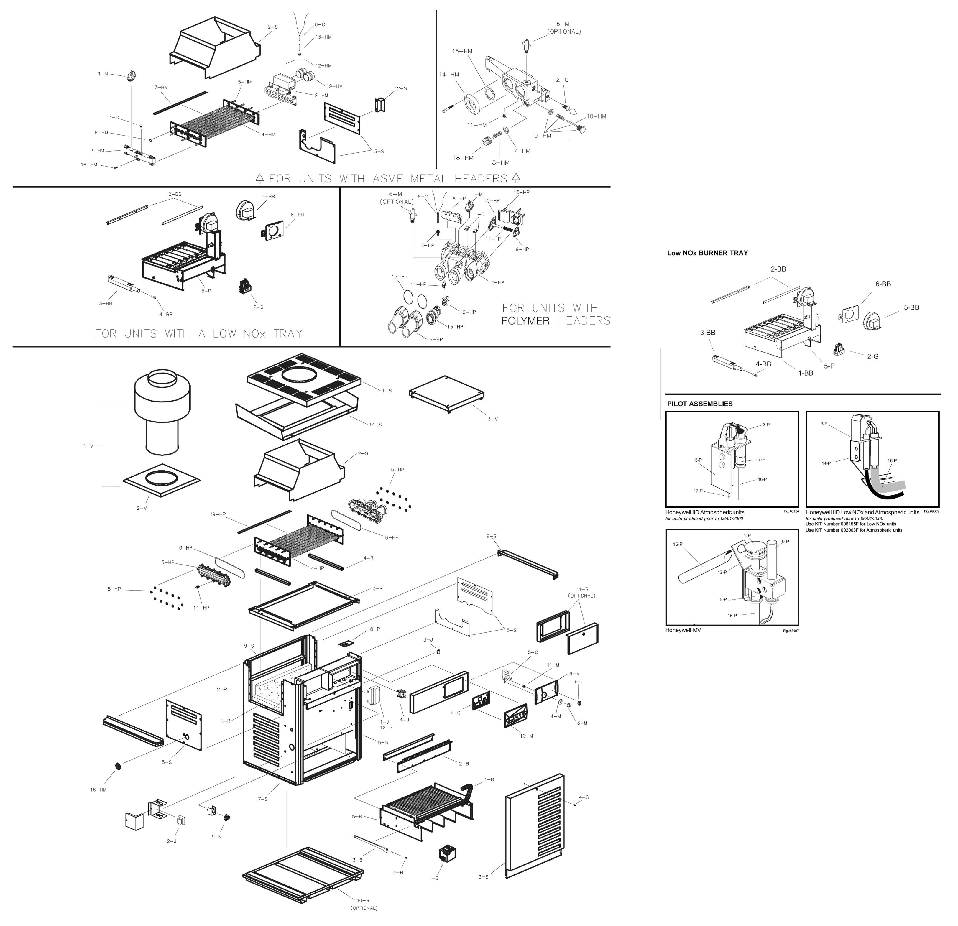 Raypak Model R185a Digital Heater Parts