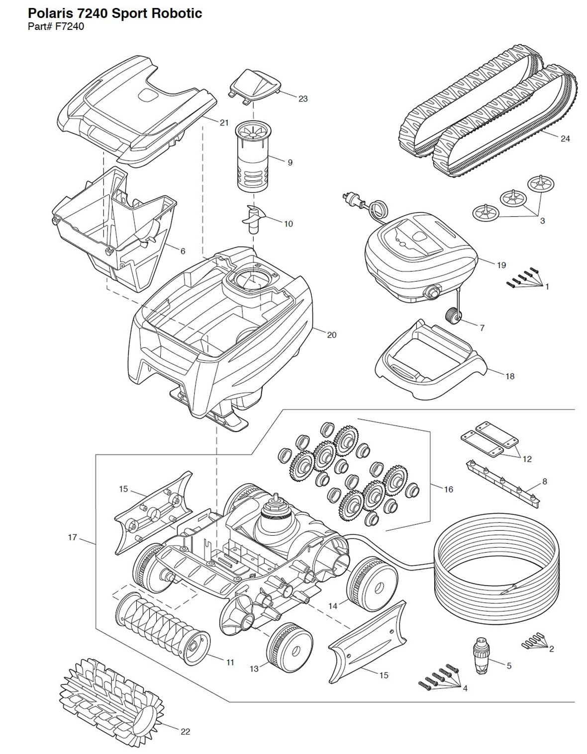 Polaris Sport Robotic Pool Cleaner Parts