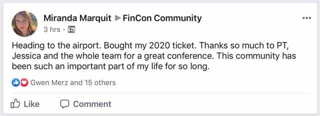 Miranda praises Fincon