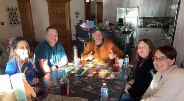 Miranda and JD playing board games