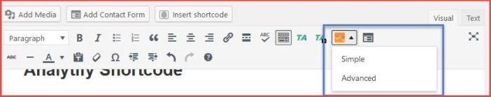 add shortcode to your post -Analytify Review