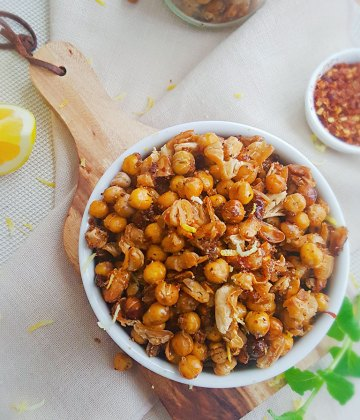 SWEET AND SPICY ROASTED BEANS AND CHICKPEAS