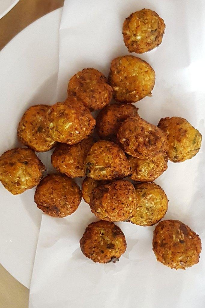 deep fried veg Manchrian balls