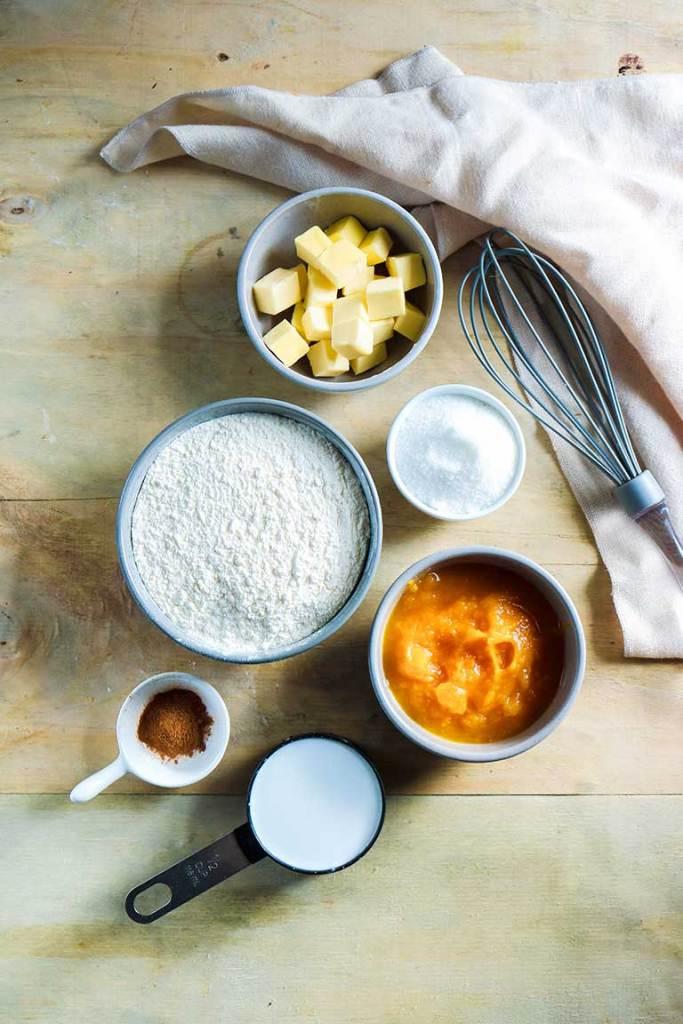 vegan pumpkin scones ingredients