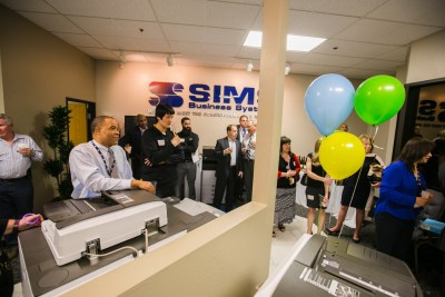 open house at sims business systems 1