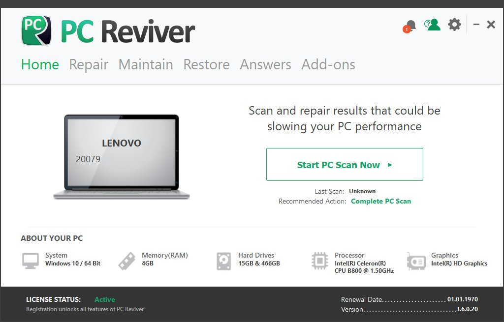 ReviverSoft PC Reviver Crack Serial Key