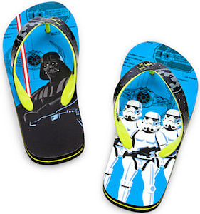 Darth Vader and Stormtrooper flip flops