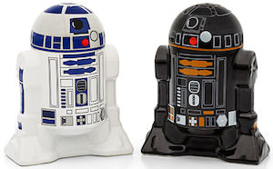 Star Wars droids salt and pepper shakers