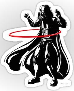 Darth Vader Hoola Hoop Sticker