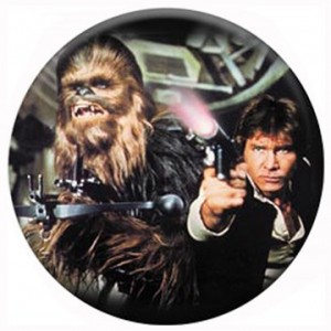 Chewbacca And Han Solo Button