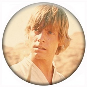 Luke Skywalker Round Facial Button