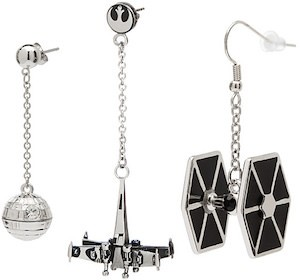 Star Wars Dangling Spacecraft Earrings