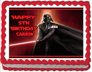 Star Wars Darth Vader Edible Cake Topper Image