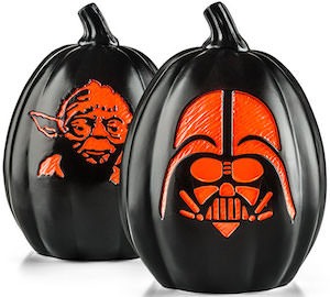 Star Wars Halloween Yoda And Darth Vader Pumpkin