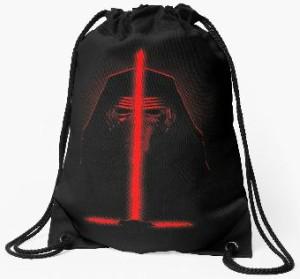 Kylo Ren Triple Lightsaber Drawstring Bag