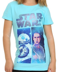 Rey And BB-8 Kids T-Shirt