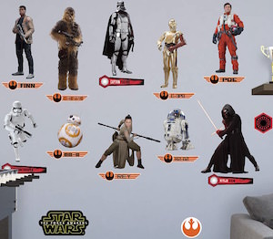 The Force Awakens Wall Decal Collection