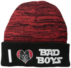 Darth Vader I Love Bad Boys Beanie Hat