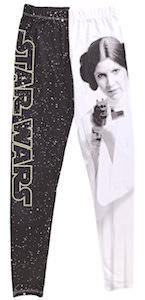 Star Wars Logo And Princess Leia Leggings