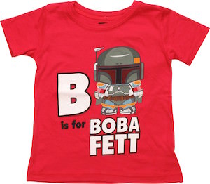 B Is For Boba Fett Kids T-Shirt