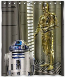 R2-D2 And C-3PO Shower Curtain