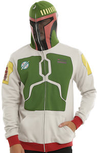 Boba Fett Zip Up Hoodie With Backpack