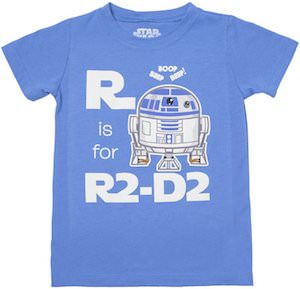 R Is For R2-D2 Toddler's Shirt