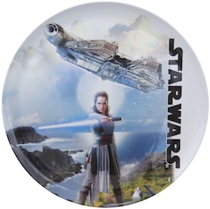 Millennium Falcon And Rey Dinner Plate