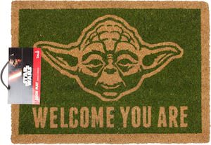 Star Wars doormat with Master Yoda on it