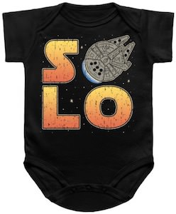 Star Wars Solo Baby Bodysuit with the Millennium Falcon
